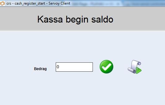 Saldo beginscherm PLAN4U Kassa en Salonsysteem